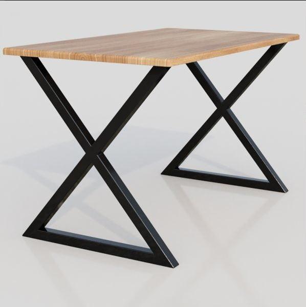 """Деревянный стол """"Onix"""" ножки из металла"""