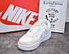 Женские кожаные кроссовки Nike air force 1 low white, найк аир форс белые подростковые аір форси 40 - Фото