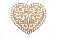Донышко Ажурное Сердце 20х22,5 см (Ø отверстие 8 мм) Венеция