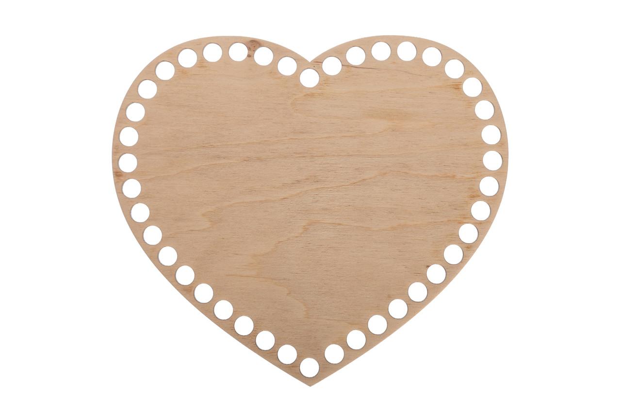 Донышко Сердце 20х22,5 см (Ø отверстие 8 мм)