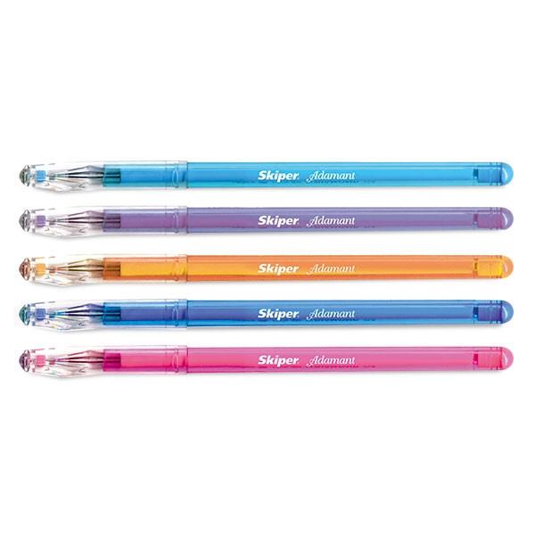 Ручка гелевая SK1010 Adamant синяя