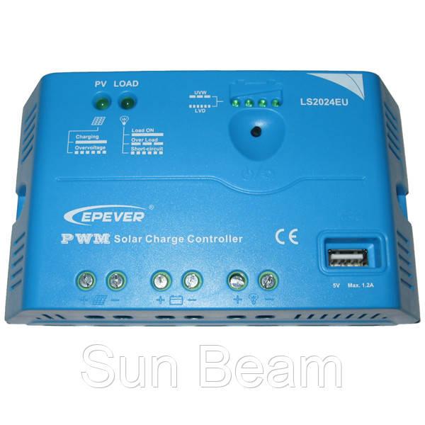 Контроллер заряда EPSOLAR LS2024,20А 12В/24В+ USB - Sun Beam в Днепре