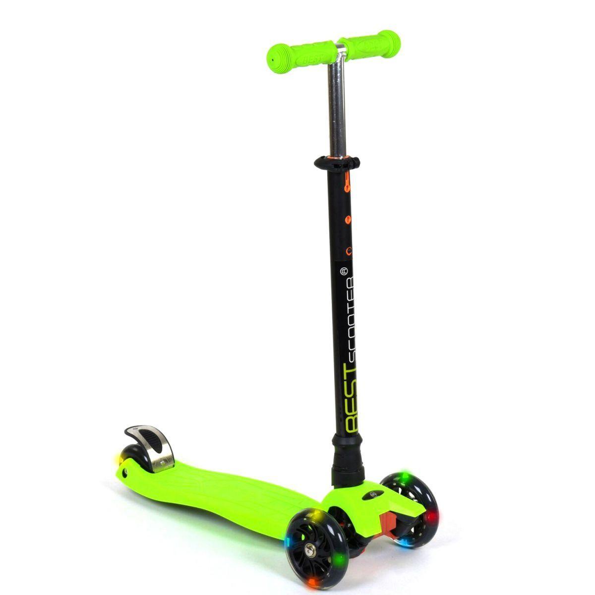 """Самокат трехколесный """"Best Scooter. MAXI"""" (салатовый) (466-113/А2427)"""