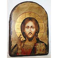 """Икона ручной работы под старину """"Спаситель"""" арка 17*23 см (STD-0_18), фото 1"""