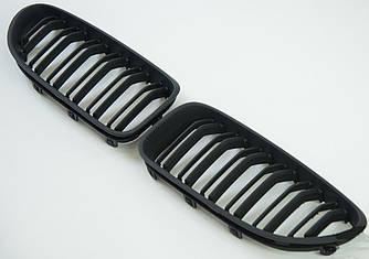 Решетки радиатора ноздри BMW 6 F06 F12 стиль M6 (черный мат)