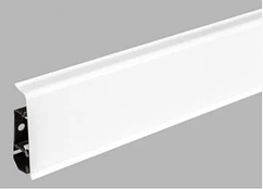 Плинтус Dekor Plast LL001 Белый пластиковый,напольный двухсостовной с кабель-каналом