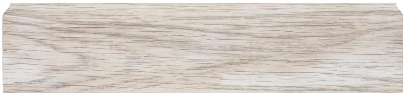 Плинтус Dekor Plast LL004 Аруша Светло-серыйп ластиковый,напольный двухсостовной с кабель-каналом