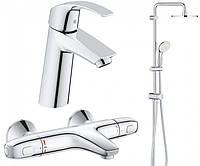 Набор смесителей GROHE Eurosmart 34102TS для ванной с термостатом