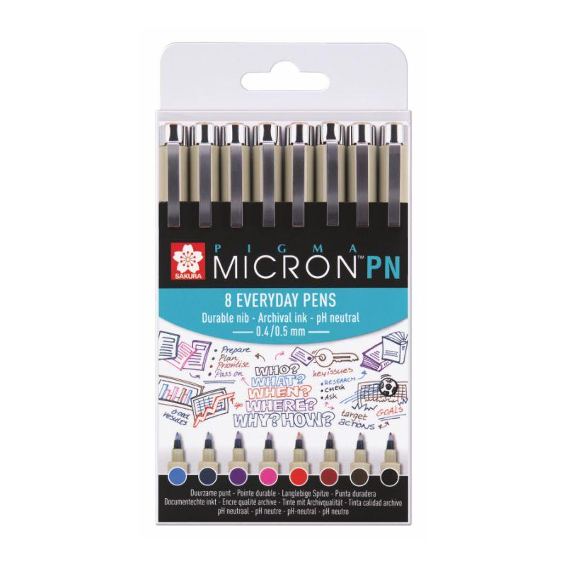 Набір ручок PIGMA MICRON PN 8цв, Sakura