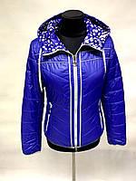 Модная молодёжная женская куртка двусторонняя весна