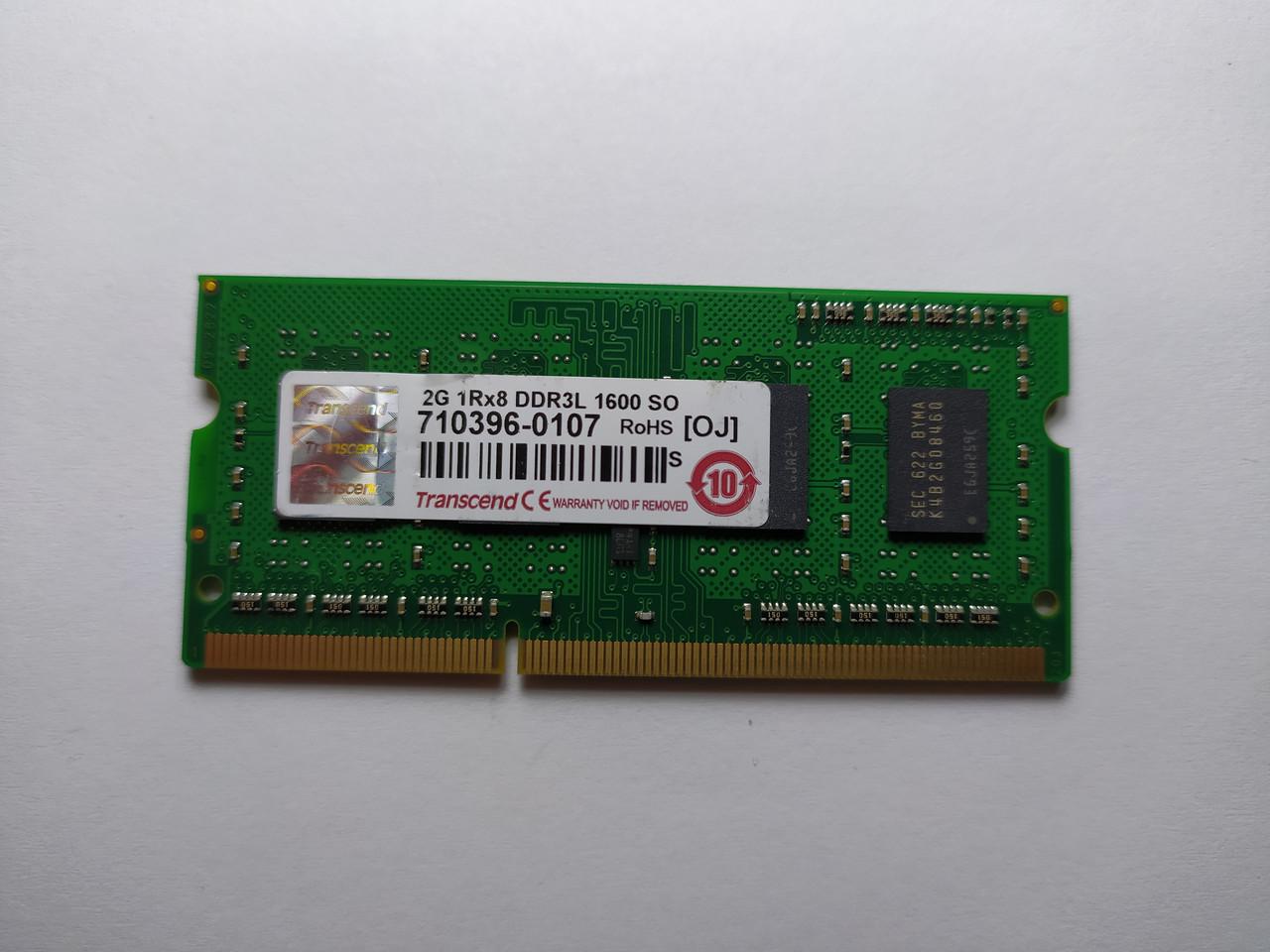 Оперативная память для ноутбука SODIMM Transcend DDR3L 2Gb 1600MHz PC3L-12800S (710396-0107) Б/У