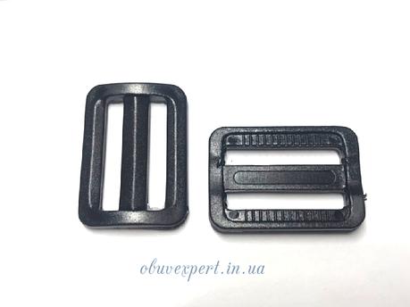 Пряжка пластиковая черная 25 мм, фото 2
