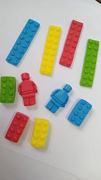Молд силиконовый лего кирпичи и лего человек набор из 2 х
