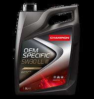 Моторное масло CHAMPION OEM SPECIFIC  5W30 LL III, фото 1