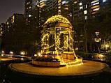 СВЕТОДИОДНАЯ ГИРЛЯНДА НА СОЛНЕЧНОЙ БАТАРЕЕ ШАРИКИ 7 МЕТРОВ 50LED ( желтый), фото 3