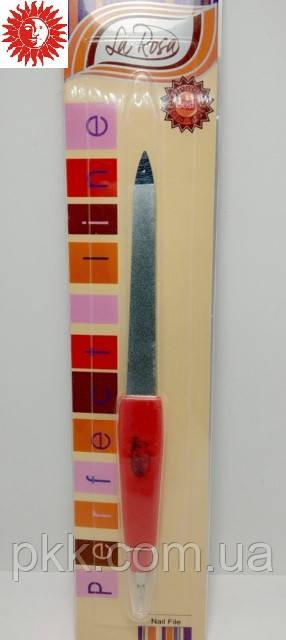 Пилка маникюрная для ногтей La Rosa металлическая сапфировая с резцом 14 см NF62