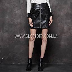 Женская кожаная юбка карандаш Glo-Story
