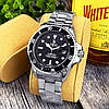Мужские кварцевые наручные часы Rolex Submariner 2128 Silver-Black, фото 2
