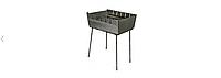 Мангал-чемодан на 6 шампуров, 3 мм. разборной, складной, переносной,компактный для шашлыка и гриля