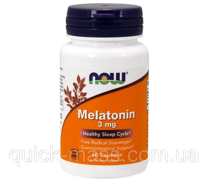 Мелатонин Now Melatonin 3 mg 60 caps