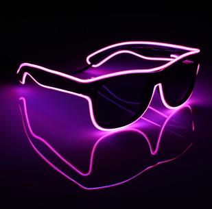 Очки светодиодные солнцезащитные El Neon неоновые ray Pink (901850954)