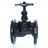 Клапан запорный чугунный 15ч9п фланцевый (Украина) Ду50 Ру16, фото 8