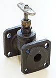 Клапан запорный чугунный 15ч9п фланцевый (Украина) Ду50 Ру16, фото 9