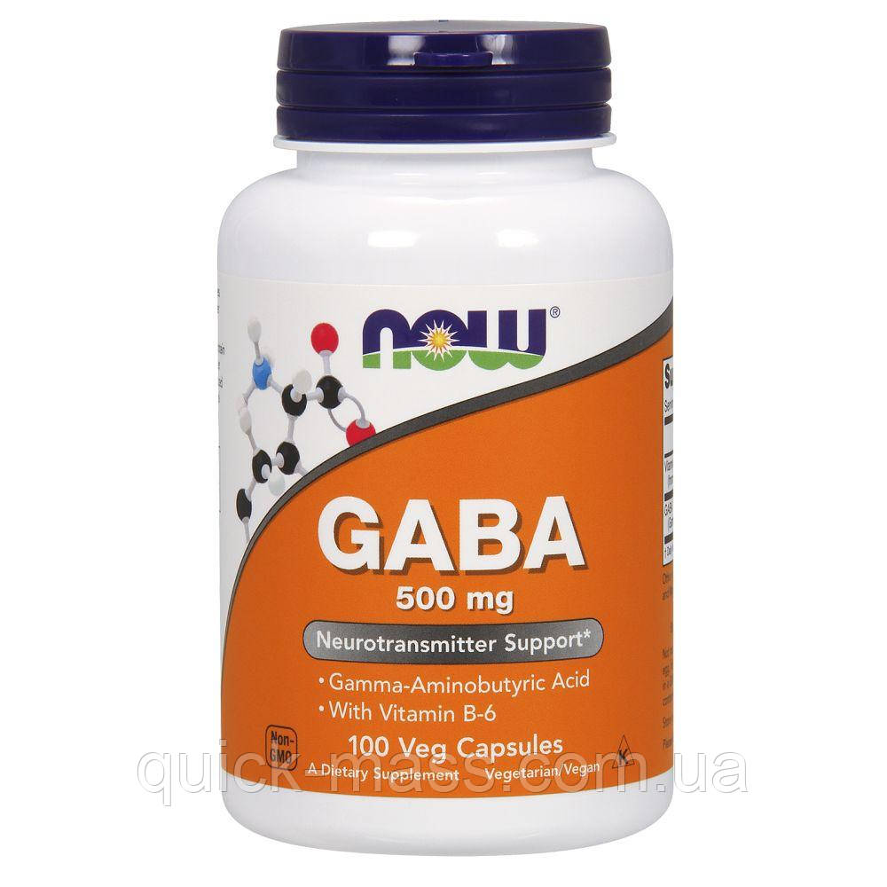 NOW Foods GABA 500 mg 100 caps