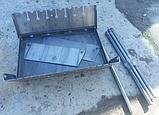 Мангал-чемодан на 10 шампуров, 3 мм. разборной, складной, переносной,компактный для шашлыка и гриля, фото 3
