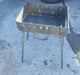 Мангал-чемодан на 10 шампуров, 3 мм. разборной, складной, переносной,компактный для шашлыка и гриля, фото 4