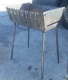 Мангал-чемодан на 10 шампуров, 3 мм. разборной, складной, переносной,компактный для шашлыка и гриля, фото 5