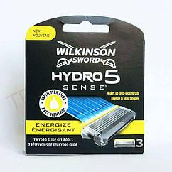 Картриджи для бритья Wilkinson Sword Hydro 5 Sense Energize 3шт. 01275