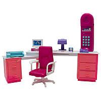 """Мебель для кукол кабинет """"Сладкий дом"""" Барби, Брац, розовая, 55х9х31см (25338P)"""