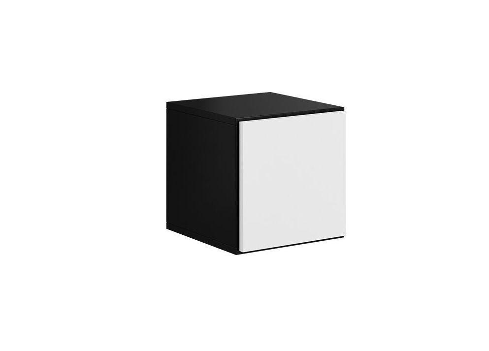 Шкафчик ROCO RO5 CAMA черный матовый/белый глянец