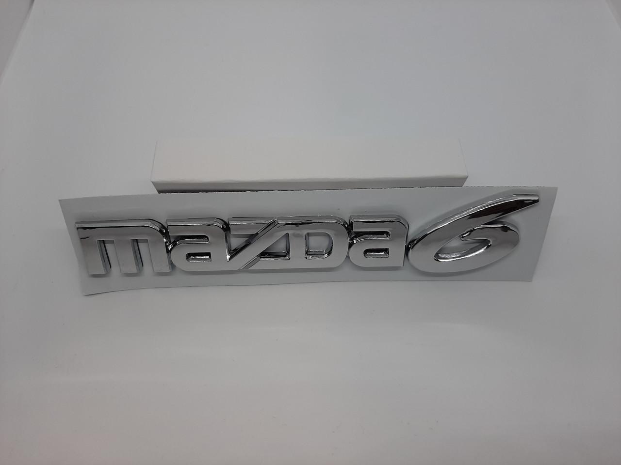 Эмблема логотип надпись Mazda 6