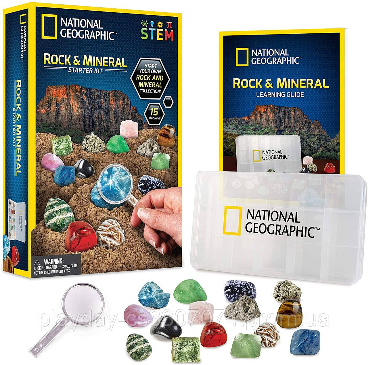 Набор камней и минералов National Geographic rock & mineral  starter kit