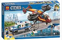 Конструктор лего Bela Сити  Воздушная полиция: кража бриллиантов аналог Lego City , 424 дет для мальчика