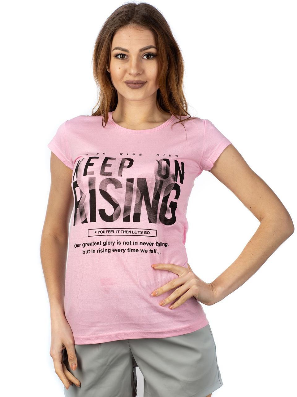 Женская футболка KEEP ON RISING