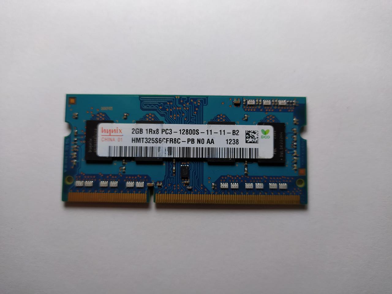 Оперативная память для ноутбука SODIMM Hynix DDR3 2Gb 1600MHz PC3-12800S (HMT325S6CFR8C-PB) Б/У