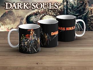 """Чашка Темные души """"Герои"""" на черном фоне / Dark Souls"""