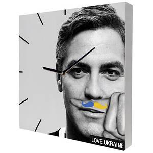 Часы на холсте Джордж Клуни Украинец