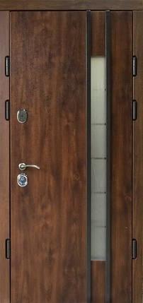 Наружные  металлические входные двери Редфорт Авеню 2 со стеклом винорит на улицу, фото 2