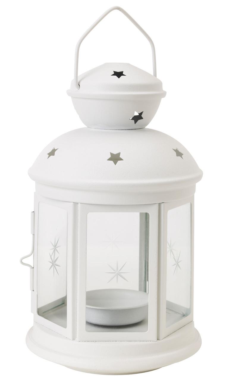 Декоративный фонарь белый