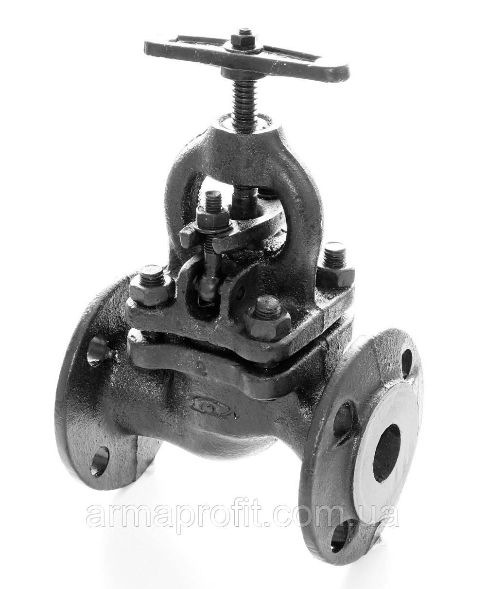 Клапан запорный чугунный 15кч16п1 фланцевый (Украина) Ду32 Ру25