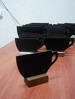 Ценники меловые на подставке Кофейная чашка Макси