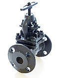Клапан запорный чугунный 15кч16п1 фланцевый (Украина) Ду50 Ру25, фото 4