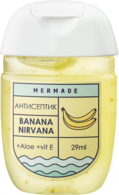 Санитайзеры антисептики для рук Mermade 4 шт 29 мл 70% спирта банан