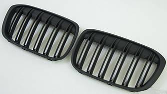 Решетки радиатора ноздри BMW X1 F48 стиль M (черный мат)