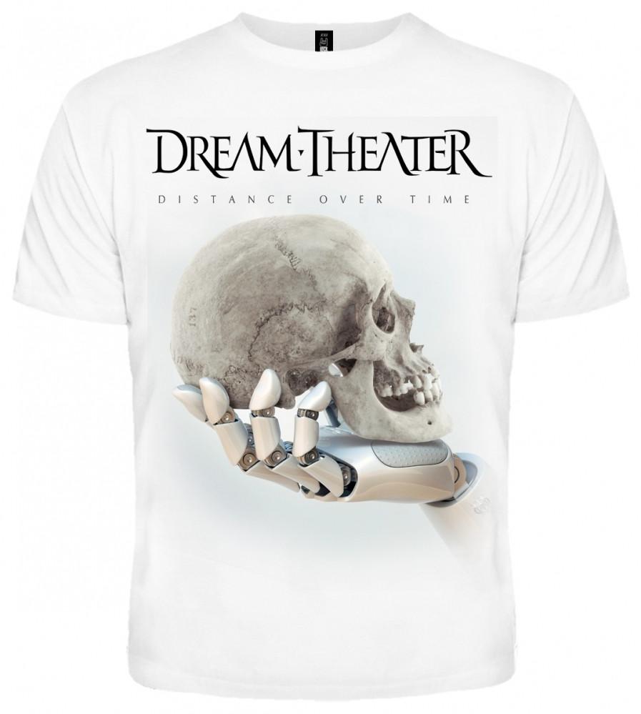 "ФУТБОЛКА DREAM THEATER ""DISTANCE OVER TIME"" (БЕЛАЯ)- размер L"