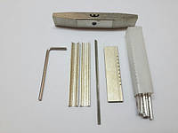 Слесарный набор отмычек для перфорированных, лазерных, луночных замков (импрессионая фольга)
